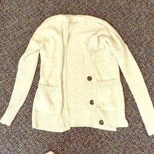 Hollister three-Button beige cardigan